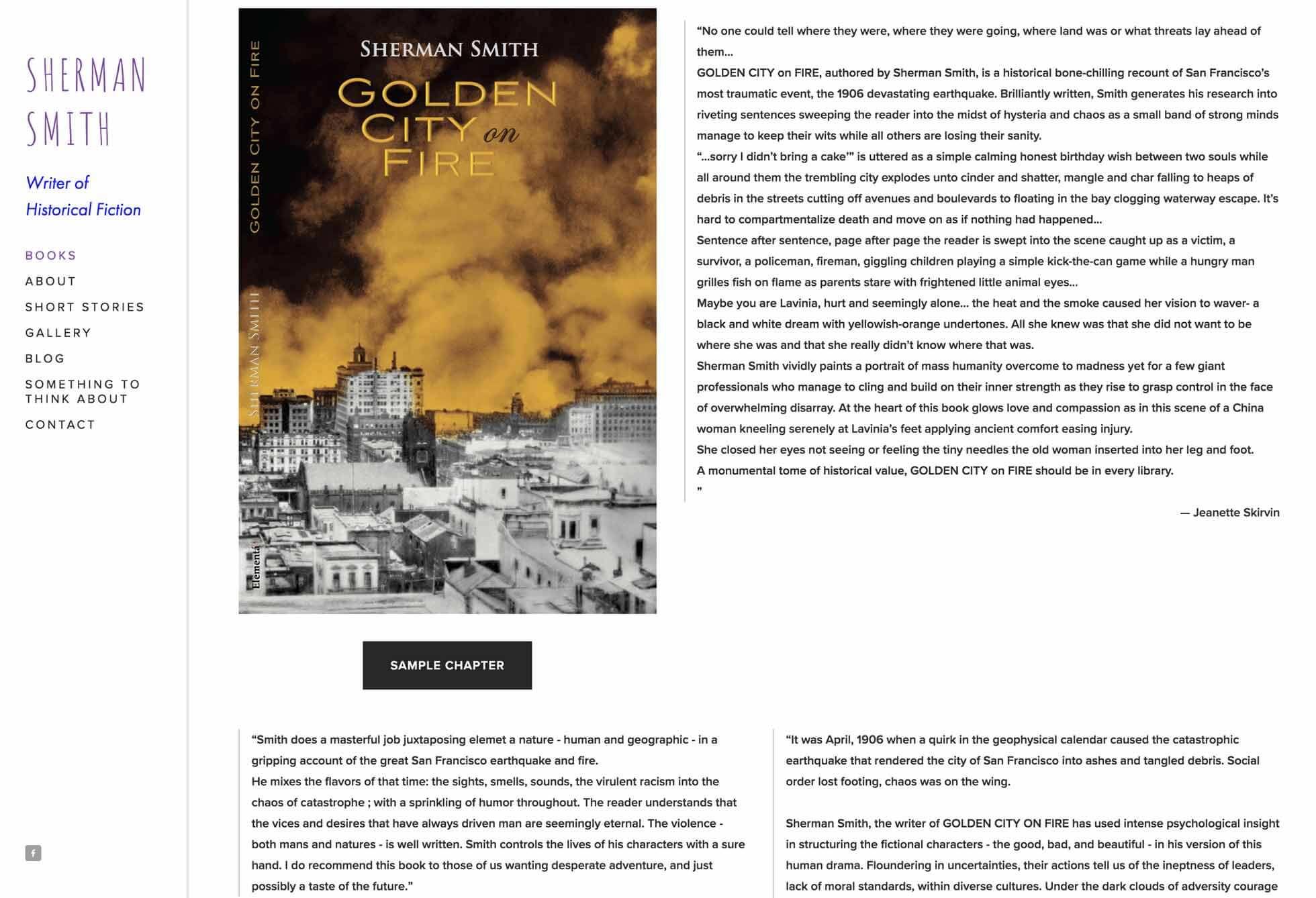 Author Sherman Smith Website