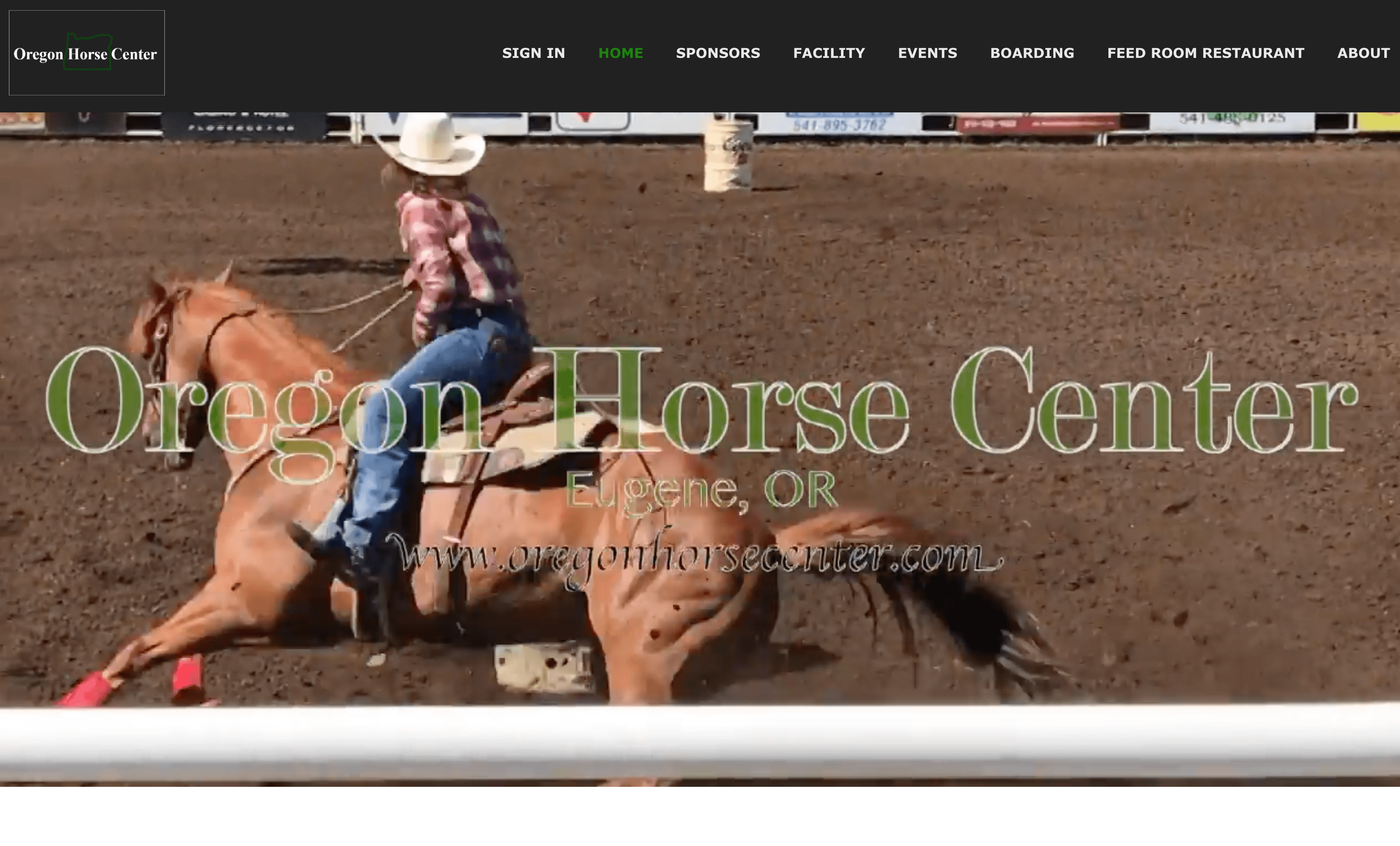 Oregon Horse Center Website