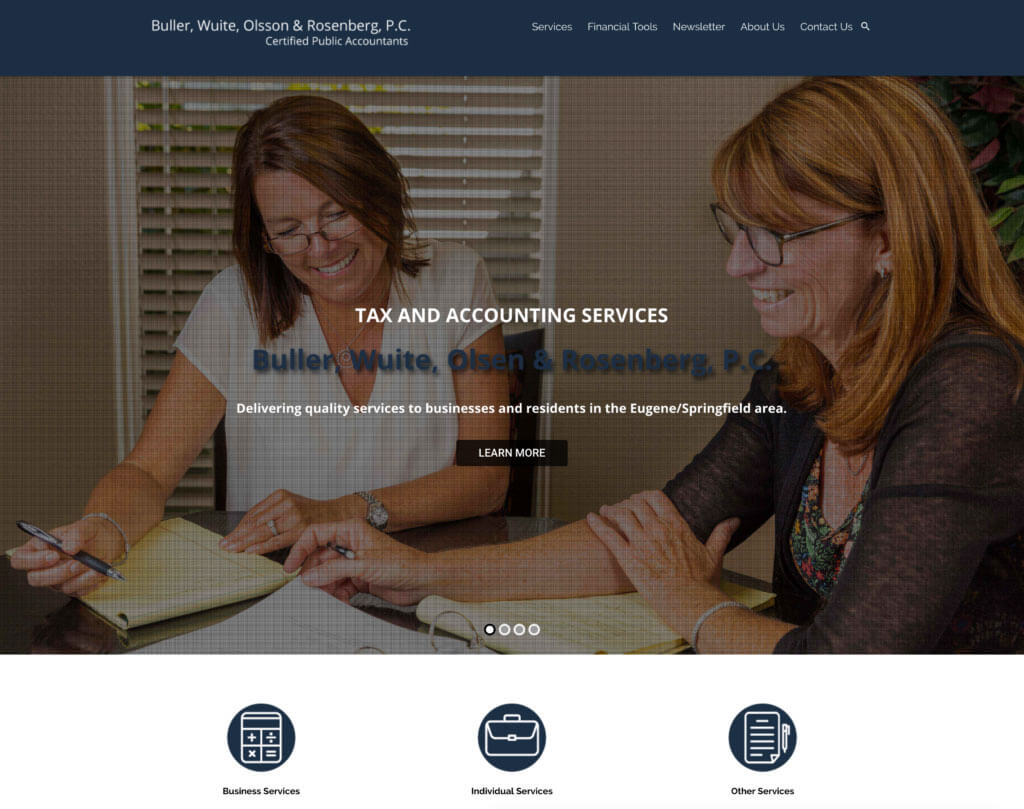 Buller, Wuite, Olsson, and Rosenberg P.C. Website